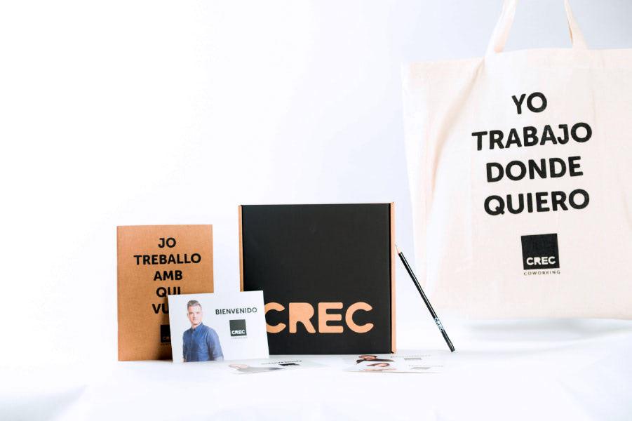 Welcome-pack-CREC-coworking-barcelona-nueva-imagen-de-marca