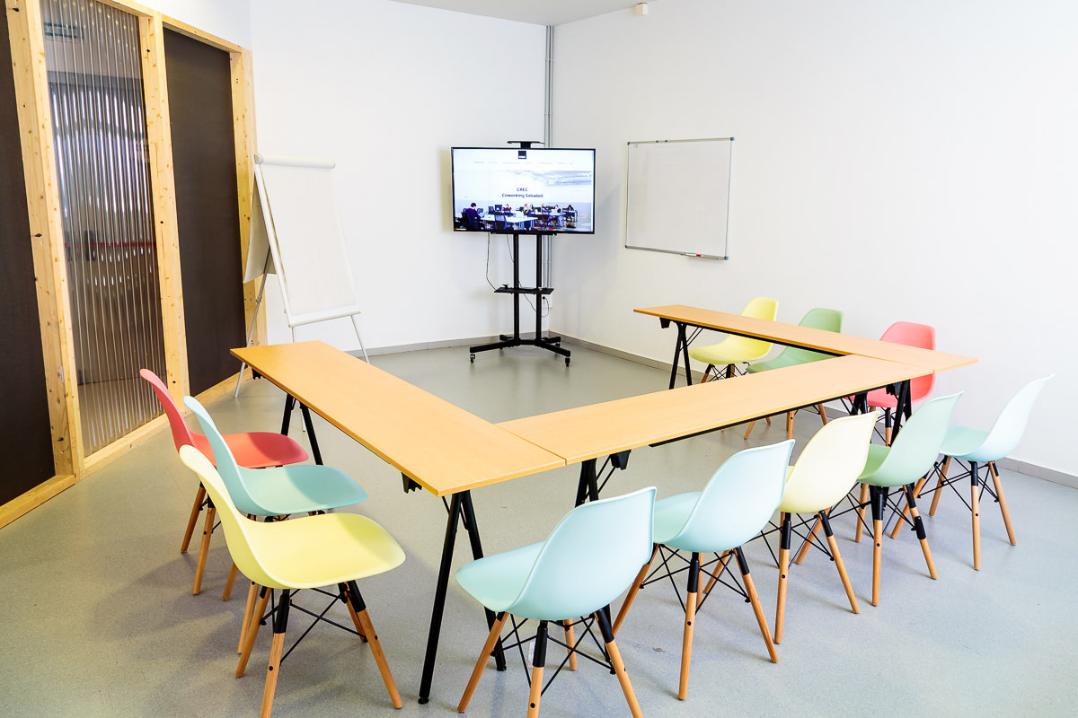 Sala de reuniones CREC Coworking Sabadell