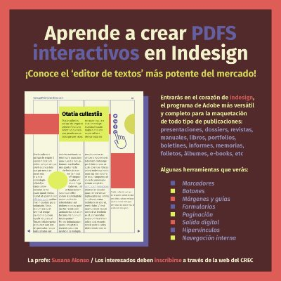 CREC Workshop Susana Alonso Indesign