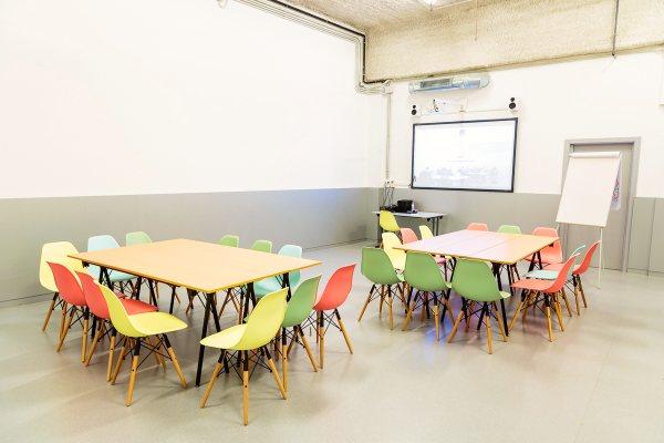 Sala Formacion CREC Coworking Barcelona Sabadell