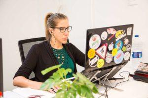 La ilustradora Valentina Tamiazzo como Flex en CREC Coworking Barcelona